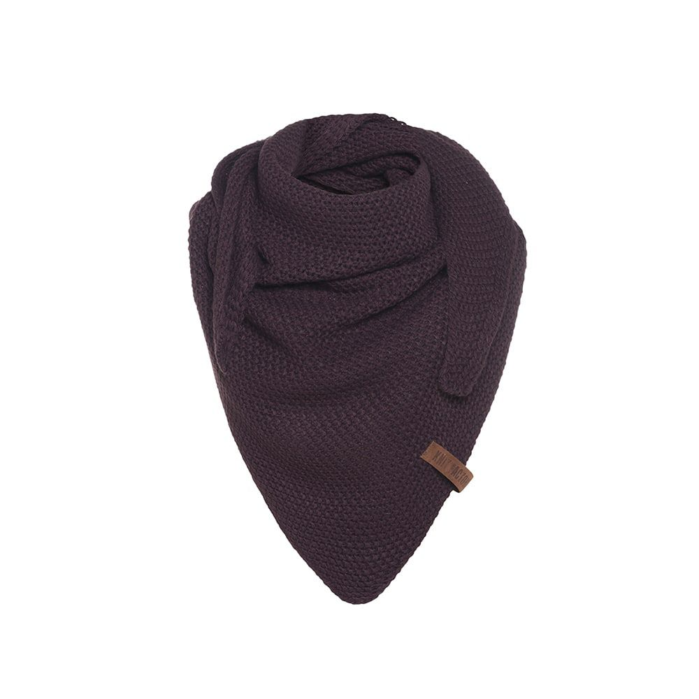 knit factory kf120059023 coco omslagdoek junior aubergine 1