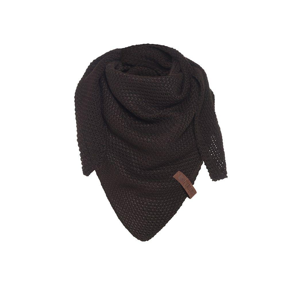 knit factory kf120059037 coco omslagdoek junior donkerbruin 1