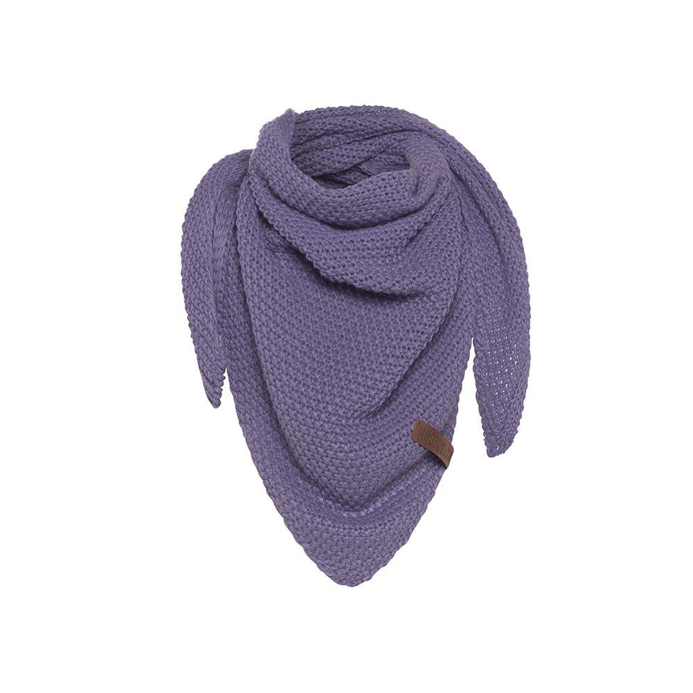 knit factory kf120059043 coco omslagdoek junior violet 1