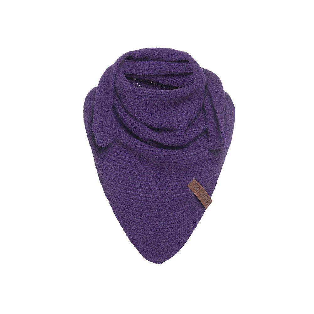 knit factory kf120059123 coco omslagdoek junior purple 1