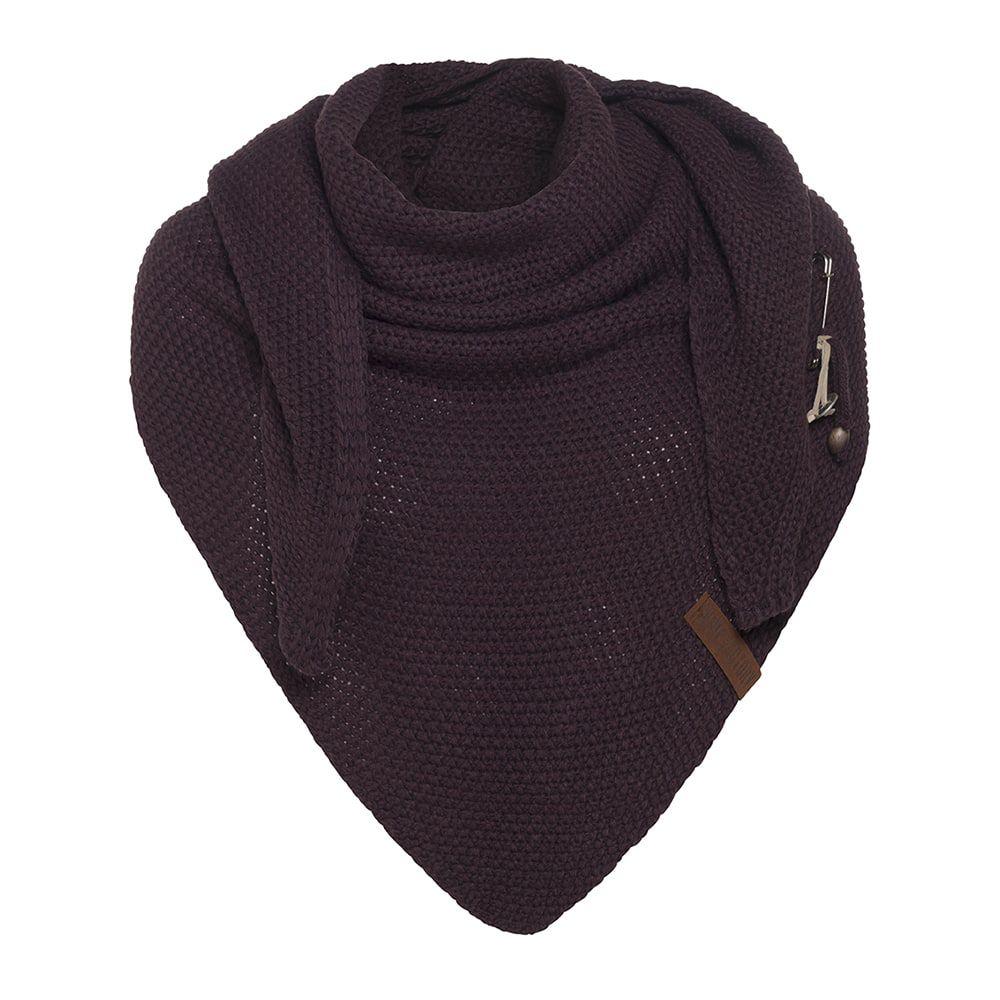knit factory kf12006002350 coco omslagdoek aubergine 1
