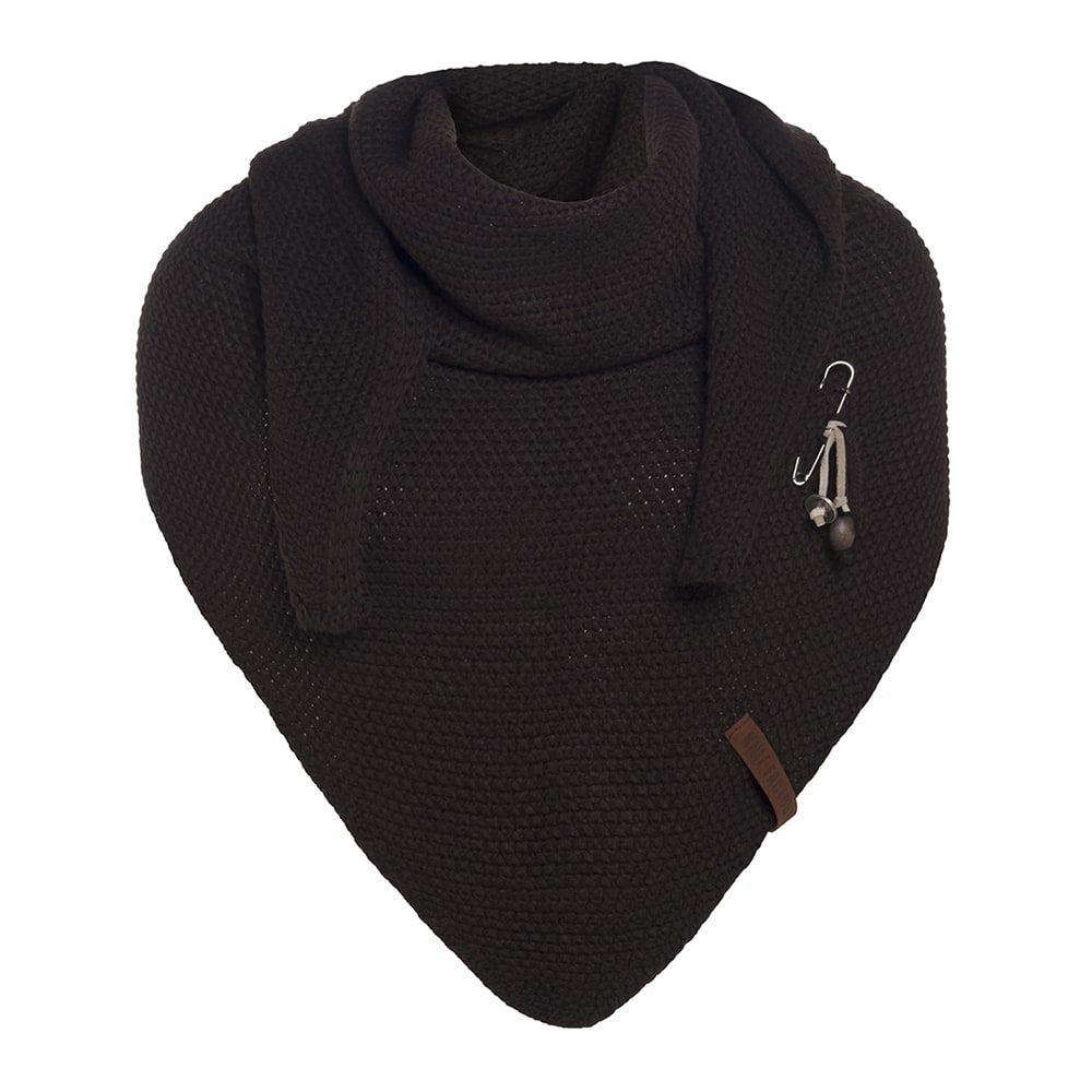 knit factory kf12006003750 coco omslagdoek donkerbruin 1