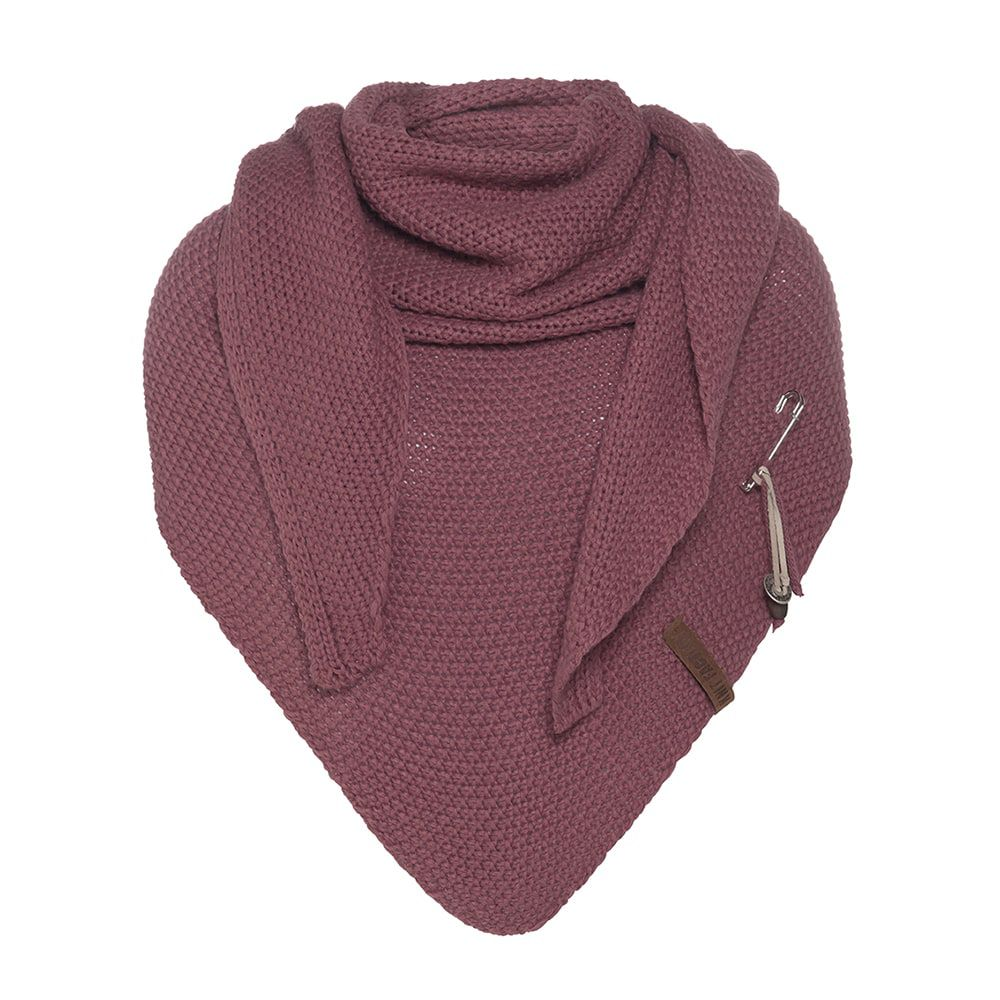 knit factory kf12006003850 coco omslagdoek stone red 1