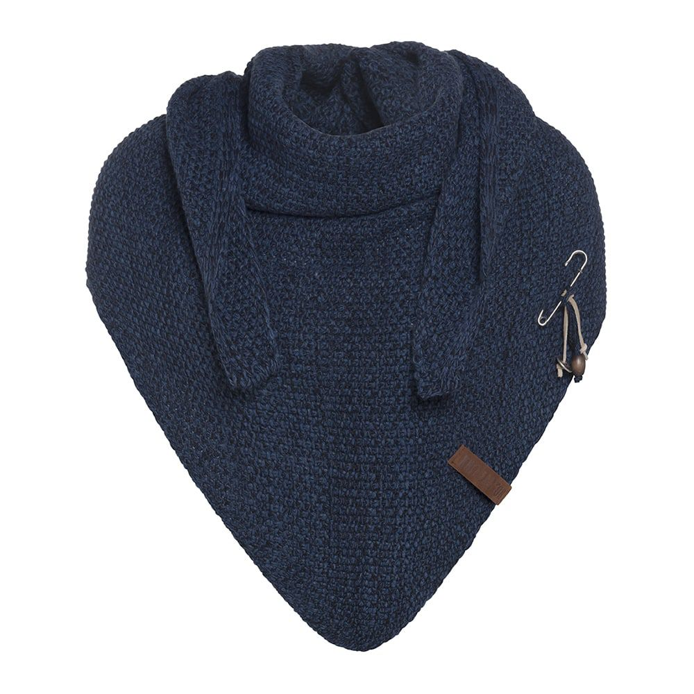 knit factory kf12006008450 coco omslagdoek jeans navy 1