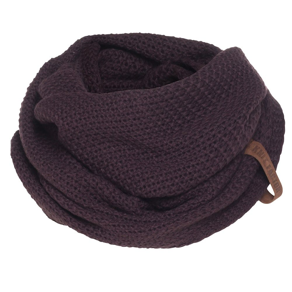 knit factory kf12006602350 coco colsjaal aubergine 1