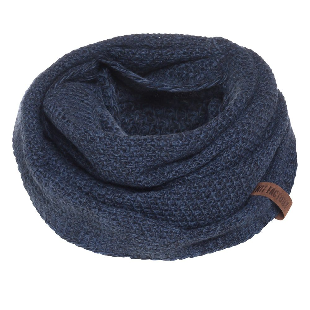 knit factory kf12006608450 coco colsjaal jeans navy 1