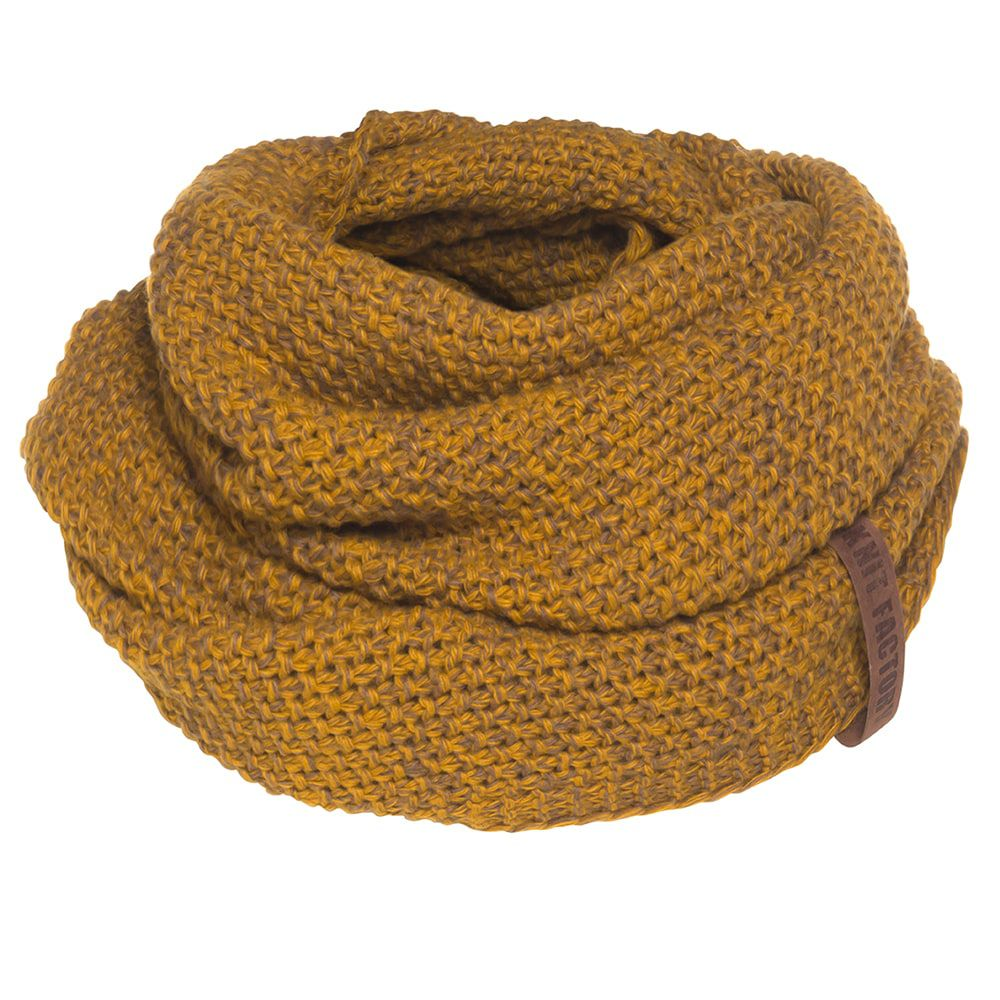 knit factory kf12006608750 coco colsjaal oker tobacco 1