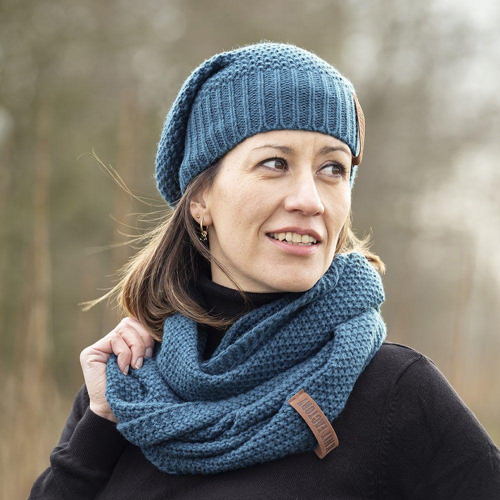 knit factory kf120070008 coco beanie petrol 3