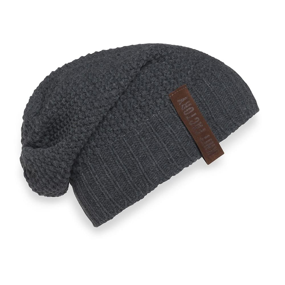 knit factory kf120070010 coco beanie antraciet 1