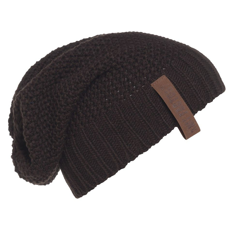 knit factory kf12007003750 coco beanie donkerbruin 1