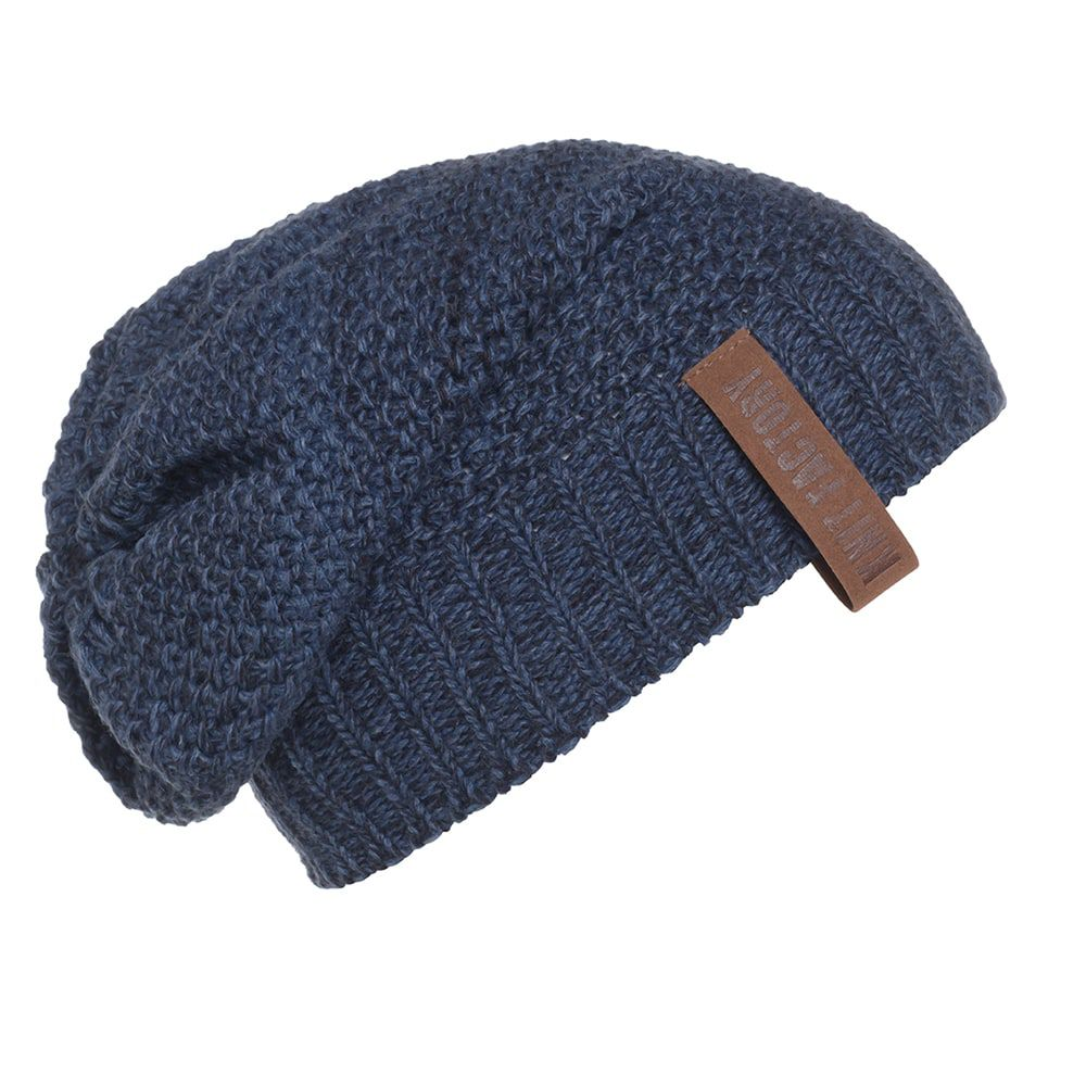 knit factory kf12007008450 coco beanie jeans navy 1