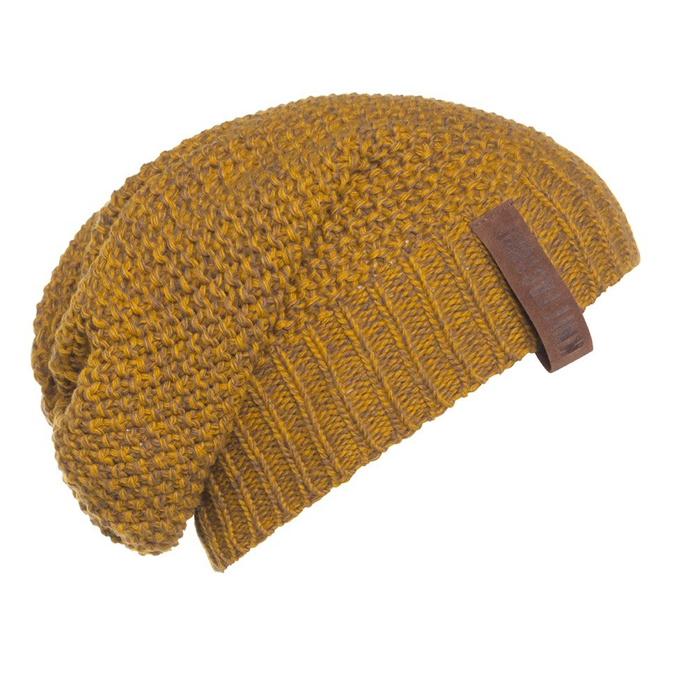 knit factory kf12007008750 coco beanie oker tobacco 1