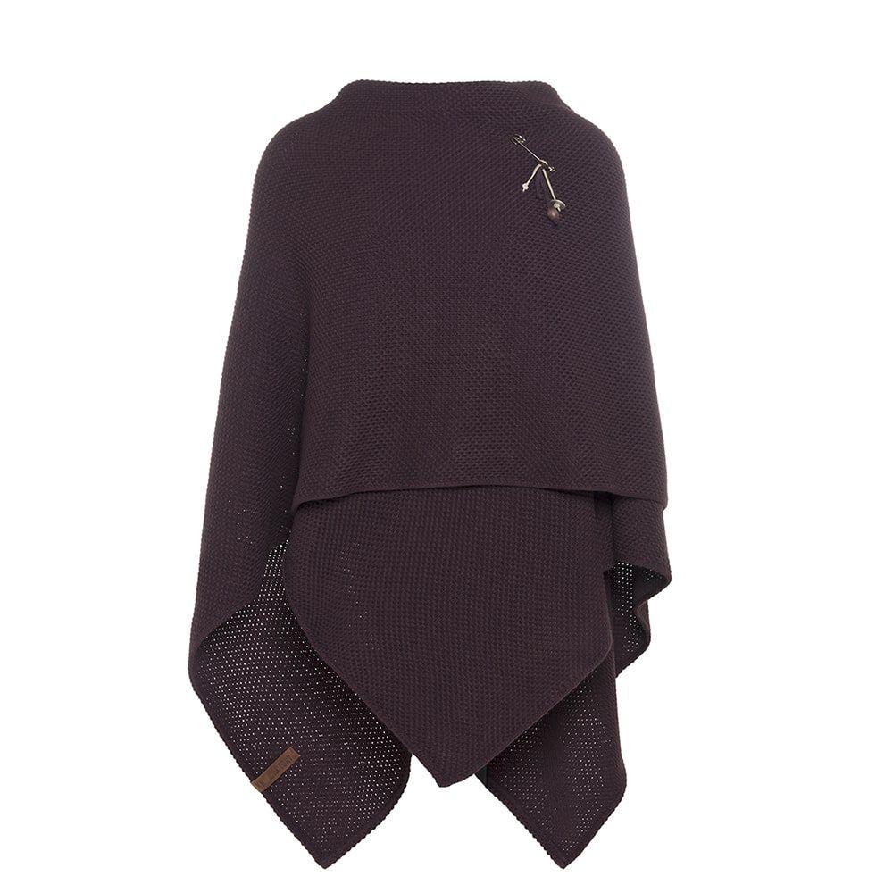 knit factory kf12306102350 jazz omslagvest aubergine 2