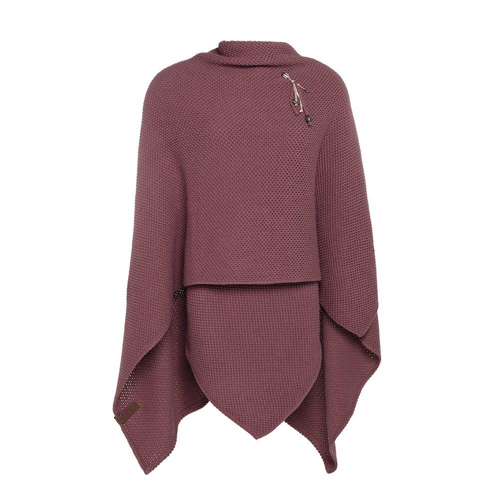 knit factory kf123061038 jazz omslagvest stone red 2