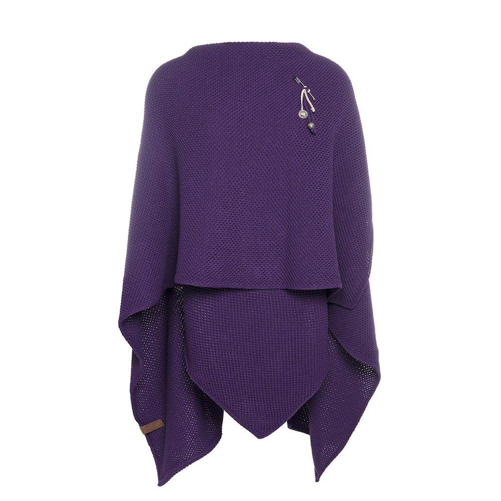 knit factory kf123061123 jazz omslagvest purple 2