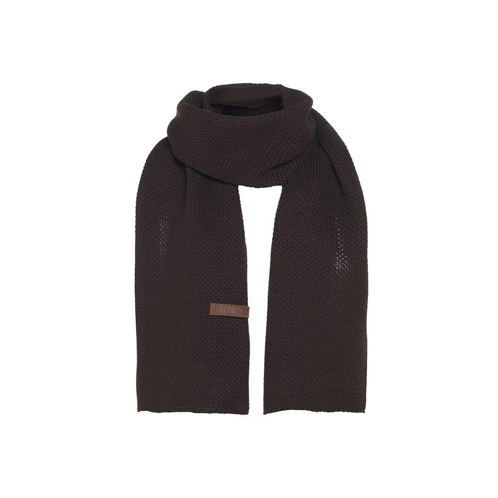 knit factory kf123065037 jazz sjaal donkerbruin 1