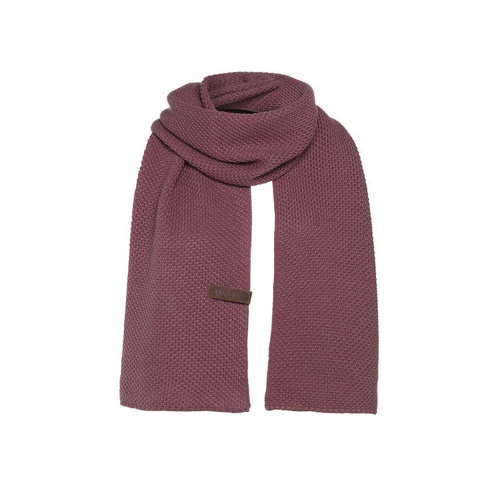 knit factory kf123065038 jazz sjaal stone red 1