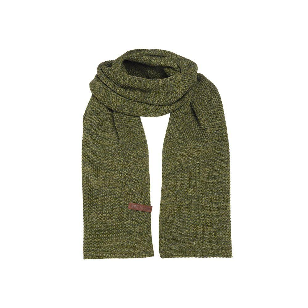 knit factory kf123065085 jazz sjaal mosgroen khaki 1