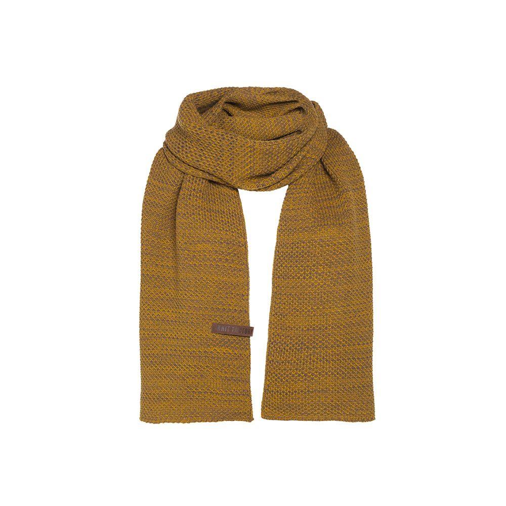 knit factory kf123065087 jazz sjaal oker tobacco 1