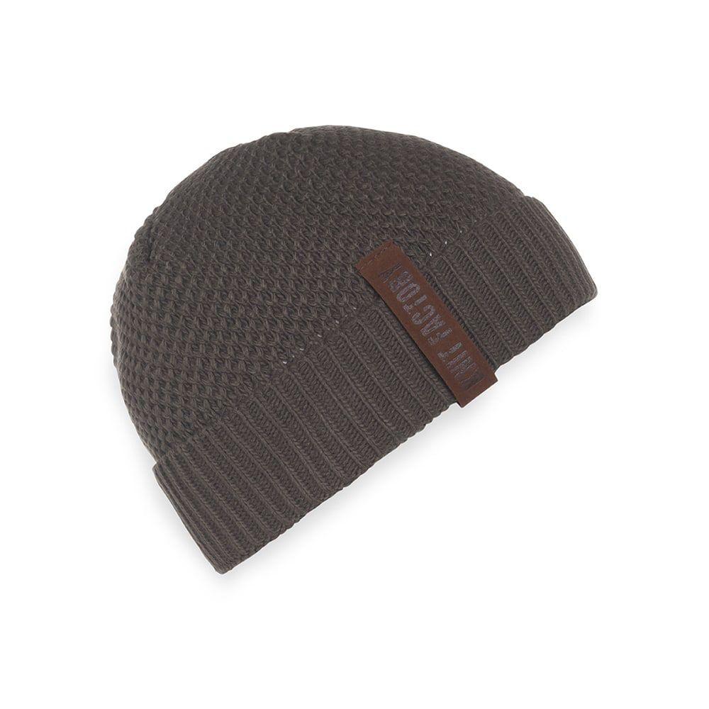 knit factory kf123070029 jazz beanie taupe 1