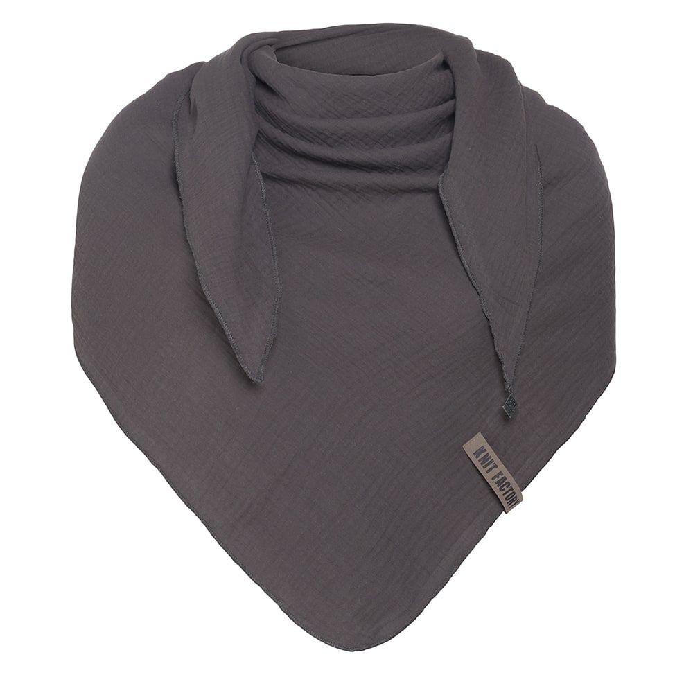 knit factory kf128060010 liv omslagdoek antraciet 1