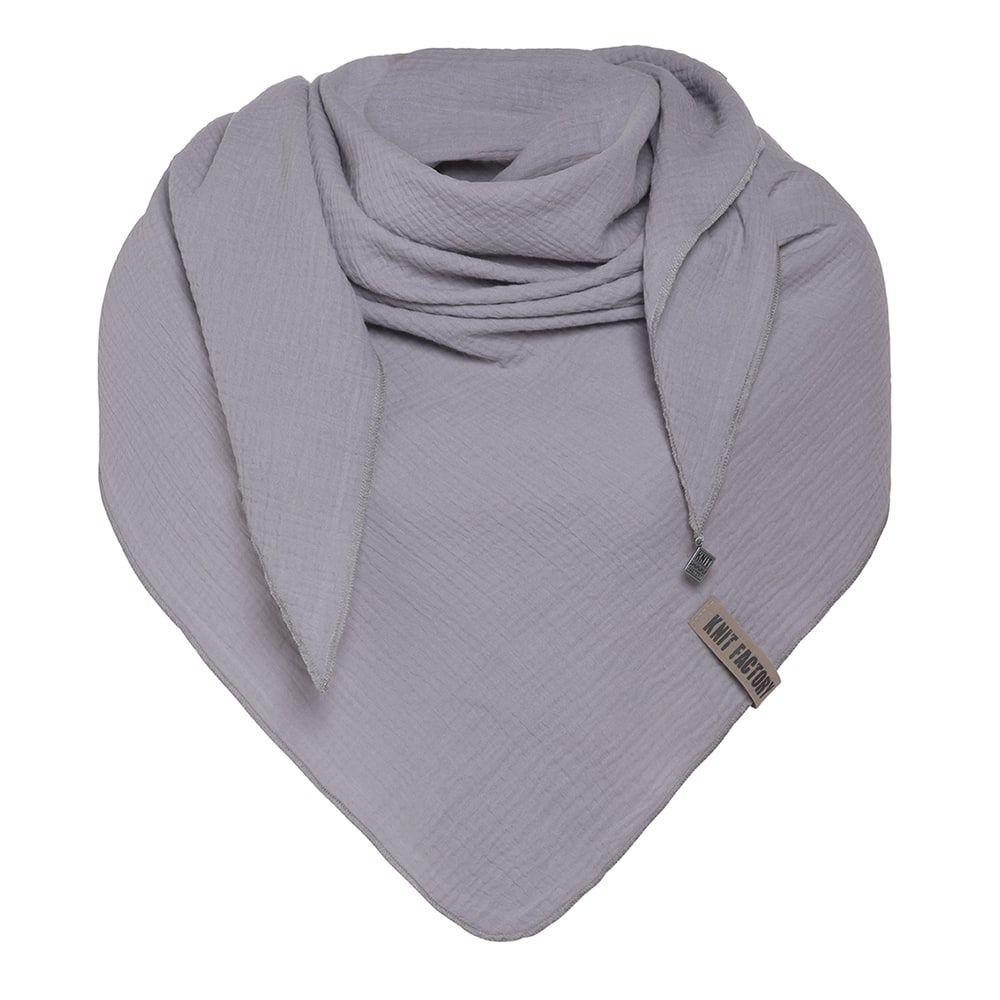 knit factory kf128060011 liv omslagdoek grijs 1