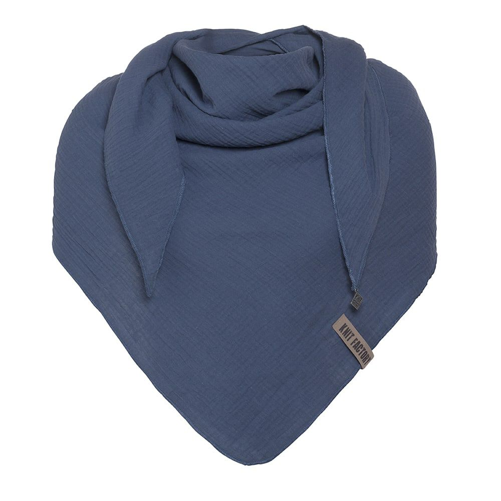 knit factory kf128060013 liv omslagdoek jeans 1