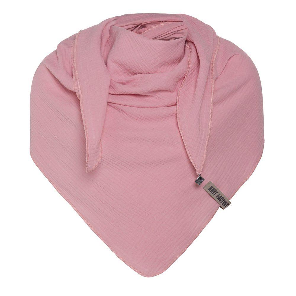 knit factory kf128060021 liv omslagdoek roze 1