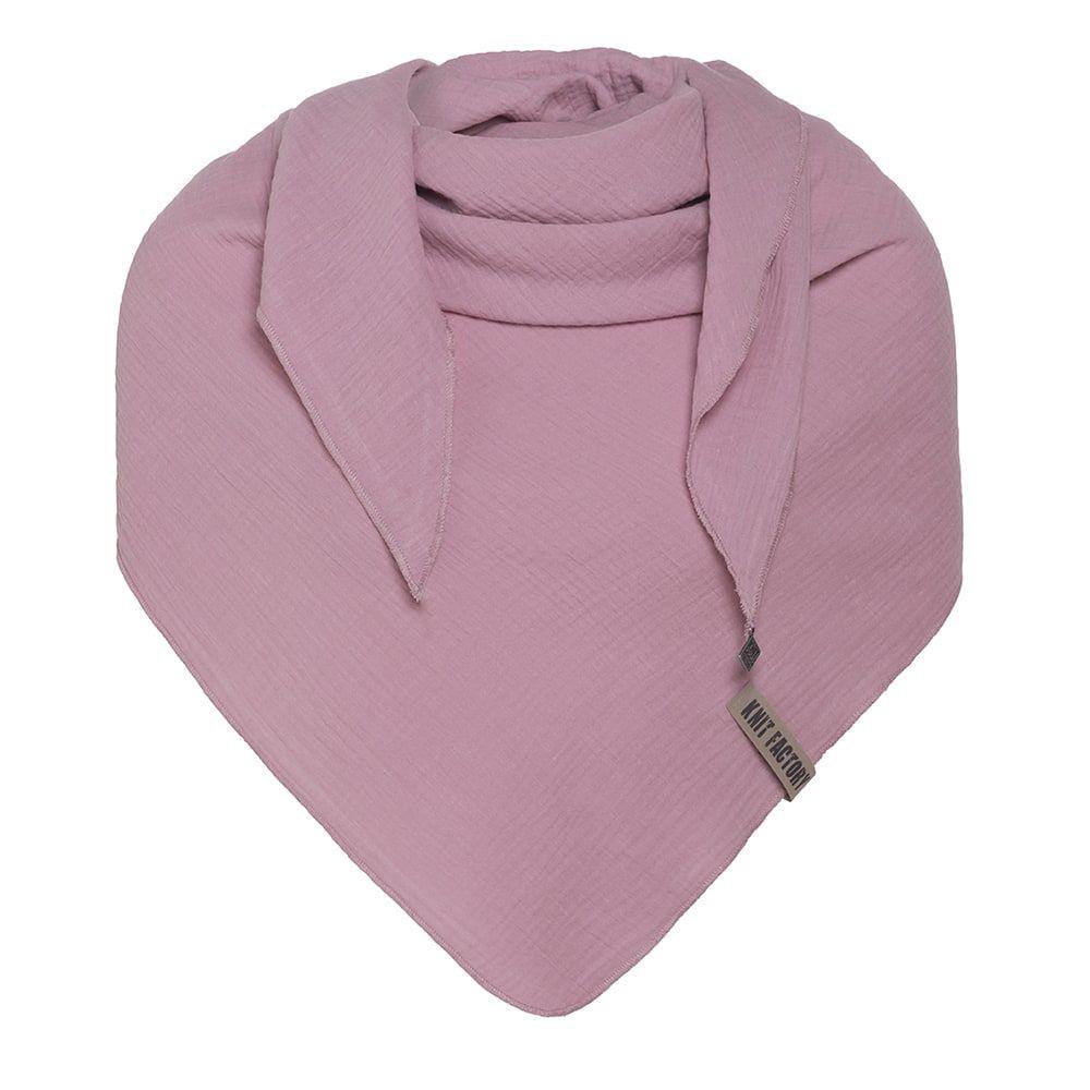 knit factory kf128060027 liv omslagdoek lila 1
