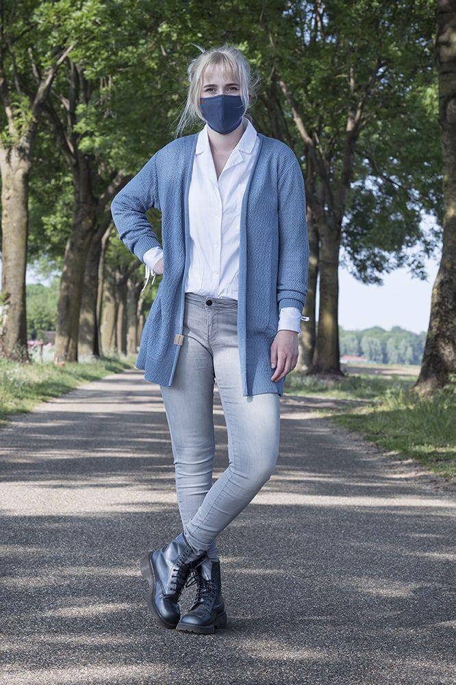 knit factory kf12810501350 liv mondmasker jeans 3