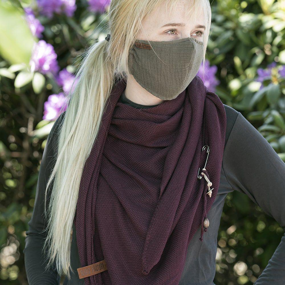 knit factory kf12810501450 liv mondmasker groen 2