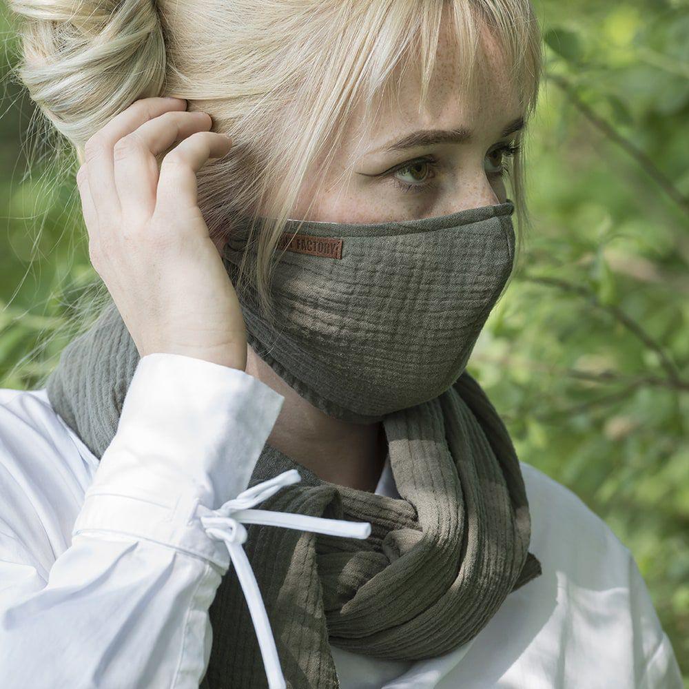 knit factory kf12810501450 liv mondmasker groen 3