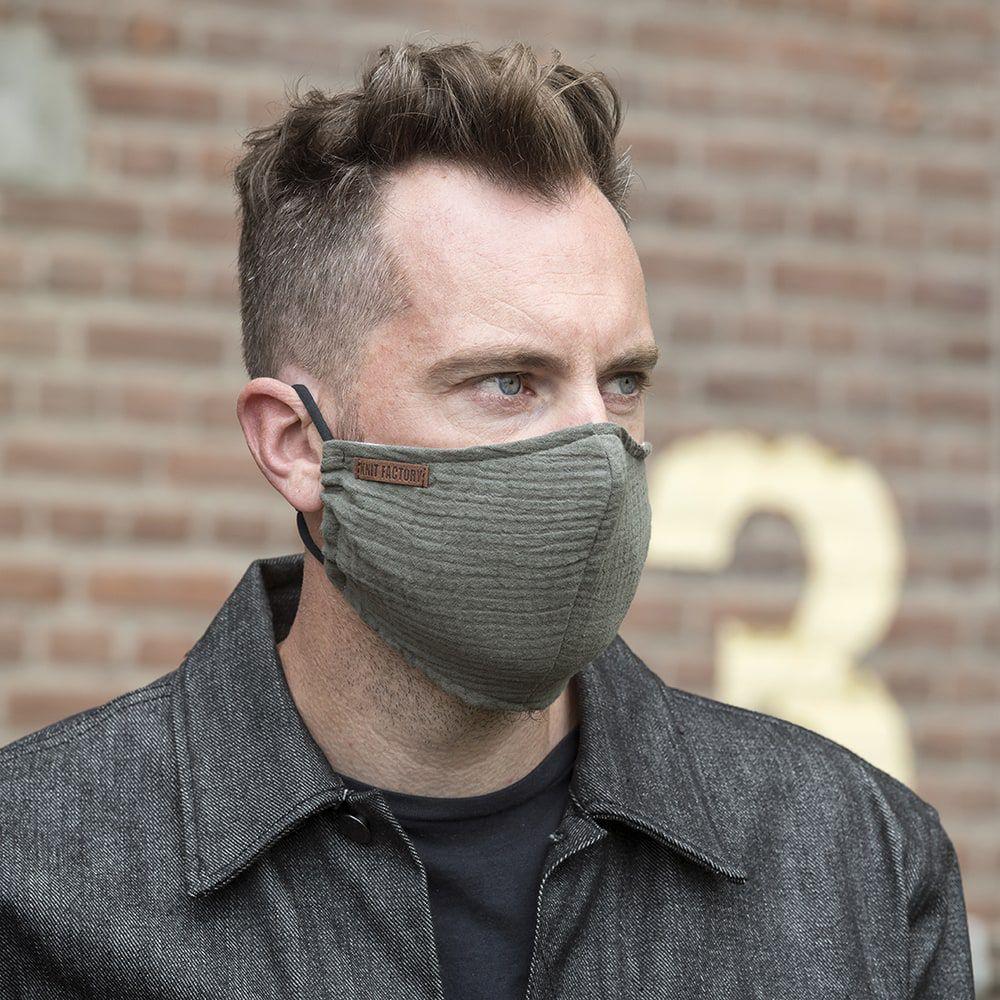 knit factory kf12810501450 liv mondmasker groen 4