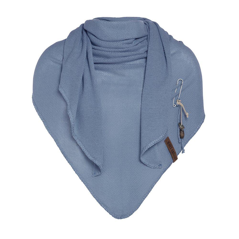 knit factory kf13006000550 lola omslagdoek stone blue 1