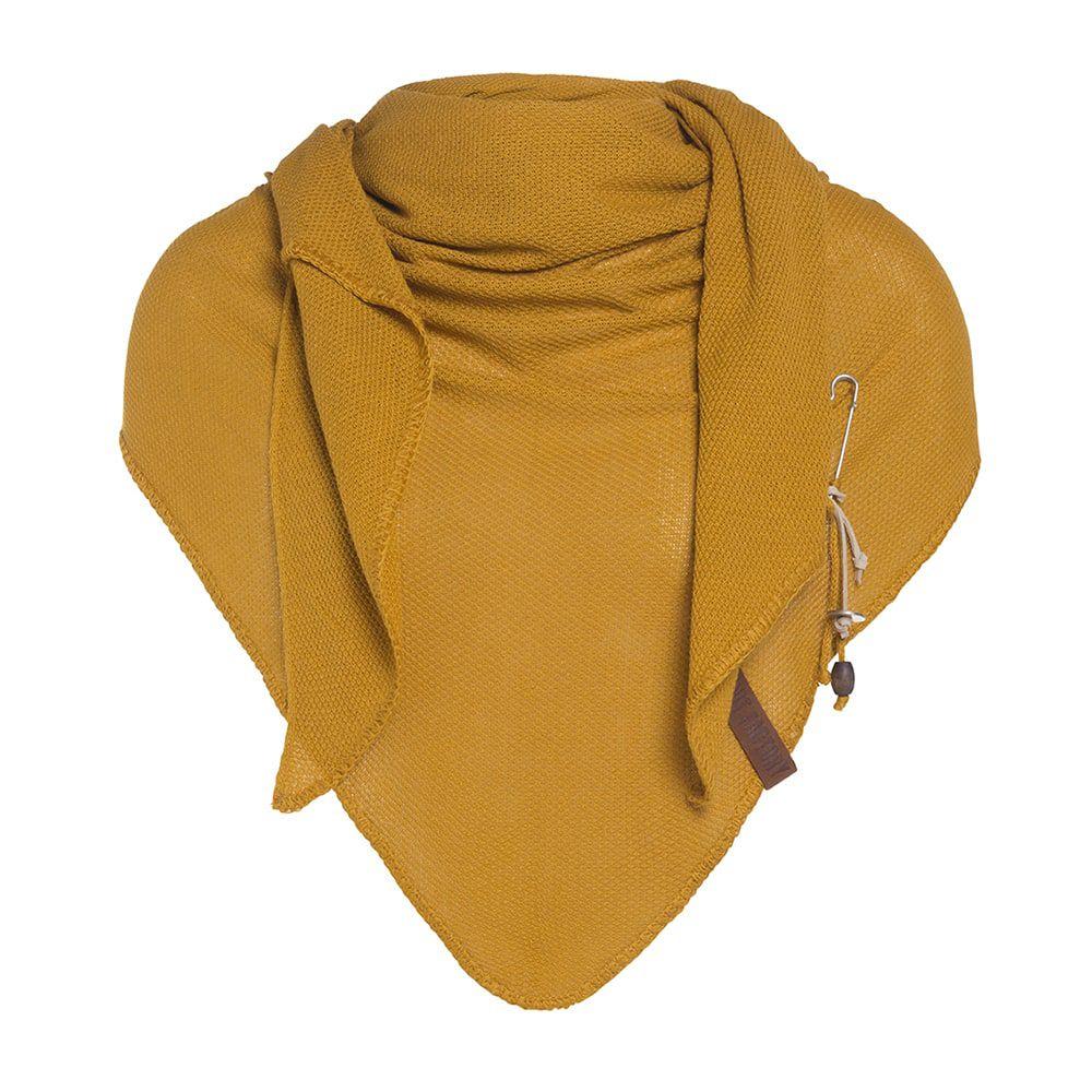 knit factory kf130060017 lola omslagdoek oker 1
