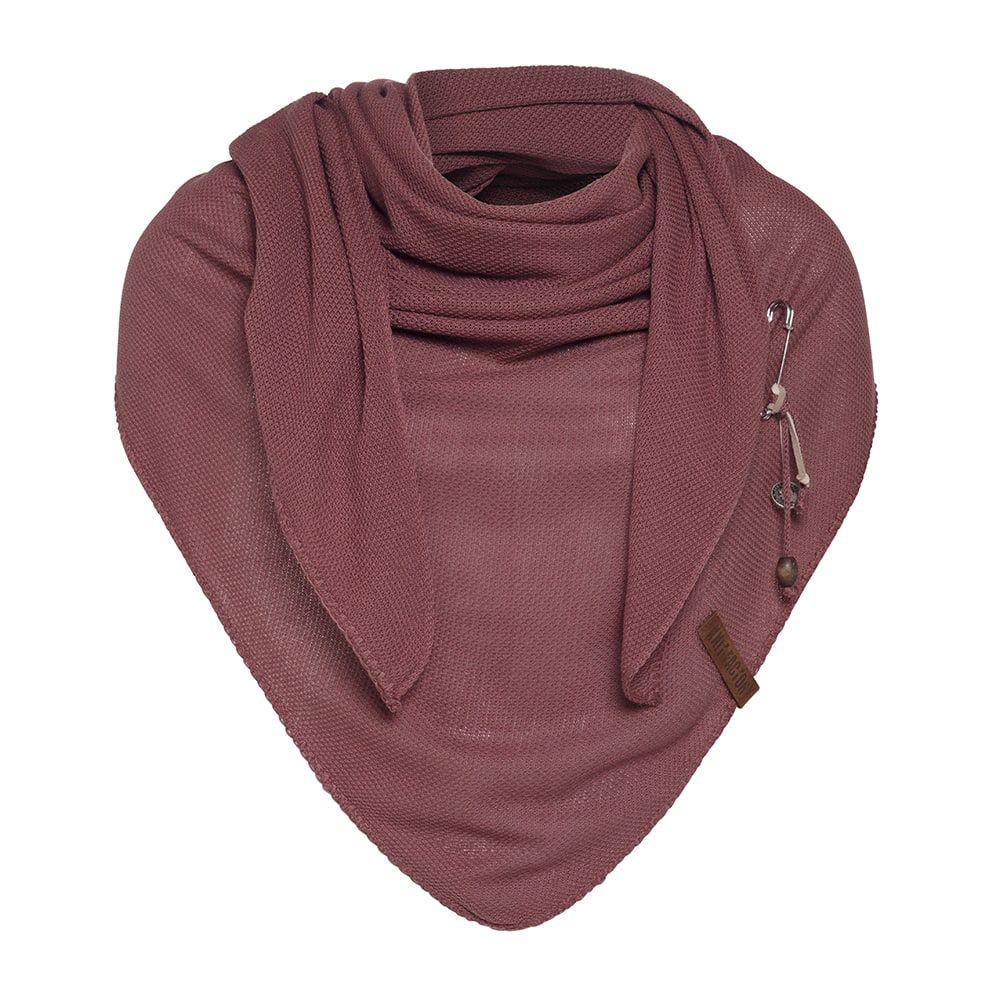 knit factory kf130060038 lola omslagdoek stone red 1