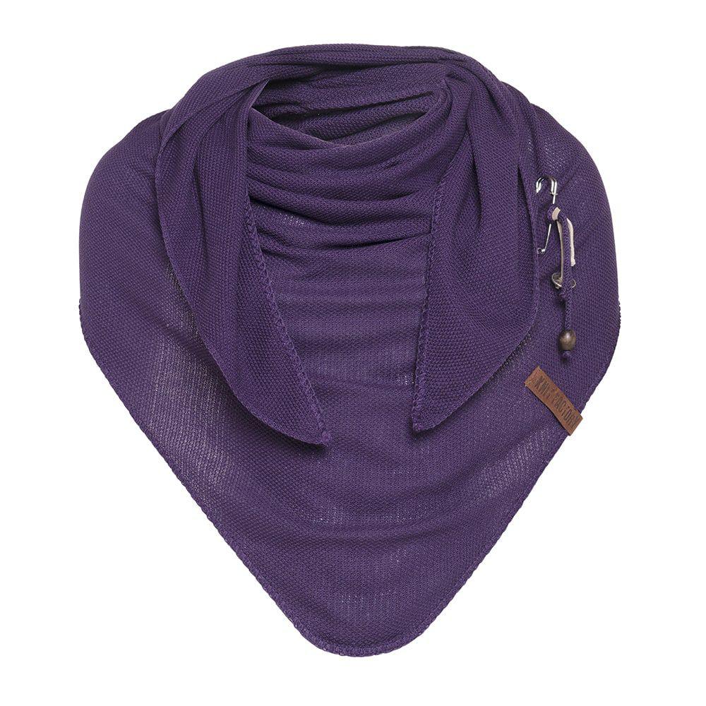 knit factory kf130060123 lola omslagdoek purple 1