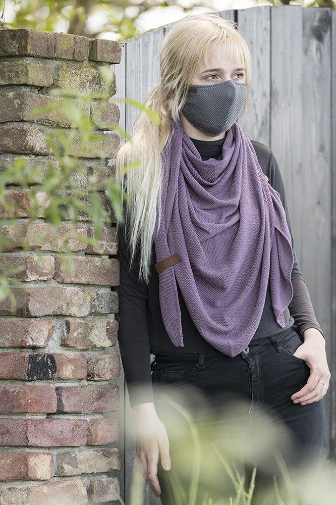 knit factory kf13010500650 lola mondmasker med grey 3