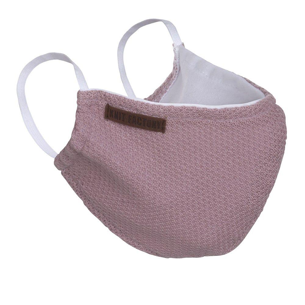knit factory kf13010502250 lola mondmasker oud roze 1