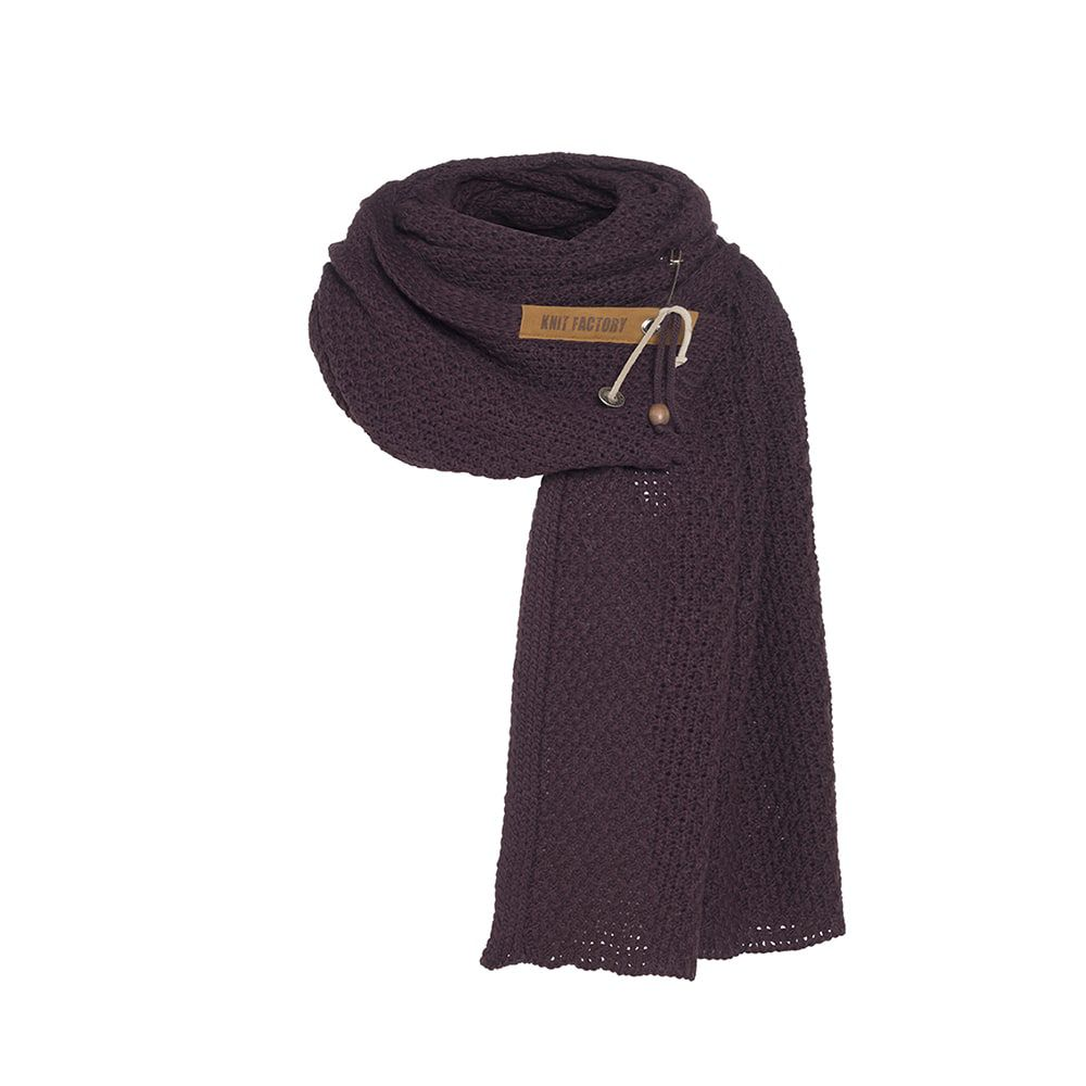 knit factory kf133065023 luna sjaal aubergine 1