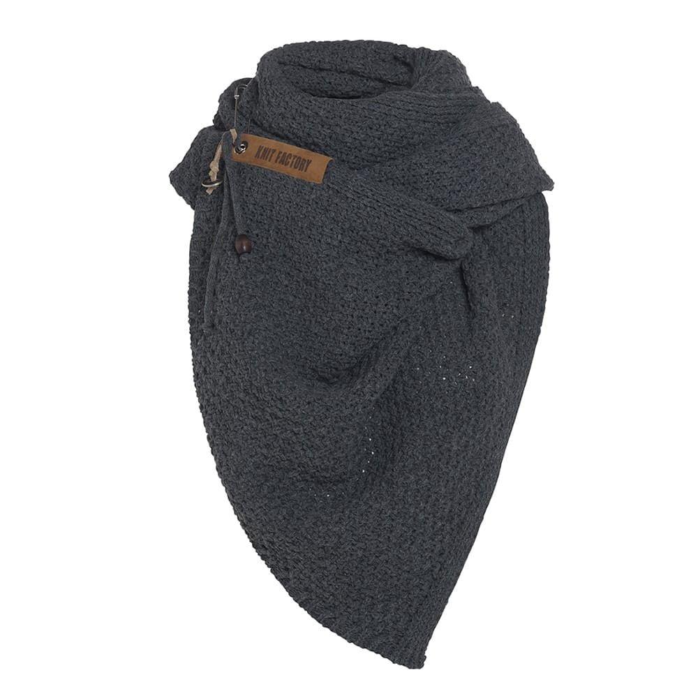 knit factory kf133065037 luna sjaal donkerbruin 3
