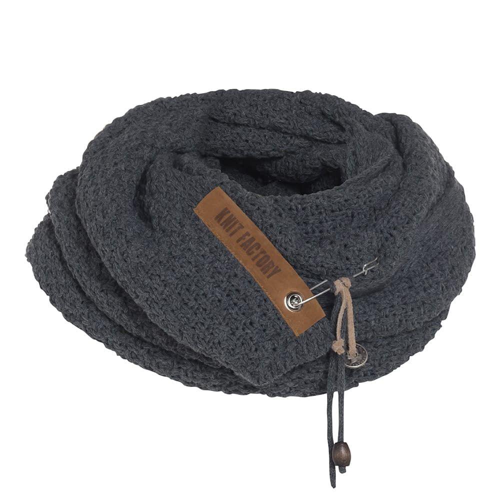 knit factory kf133065037 luna sjaal donkerbruin 4