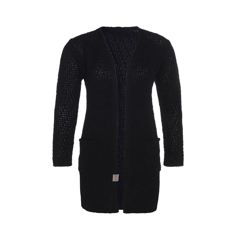 knit factory kf13308100051 luna vest zwart 4042 1