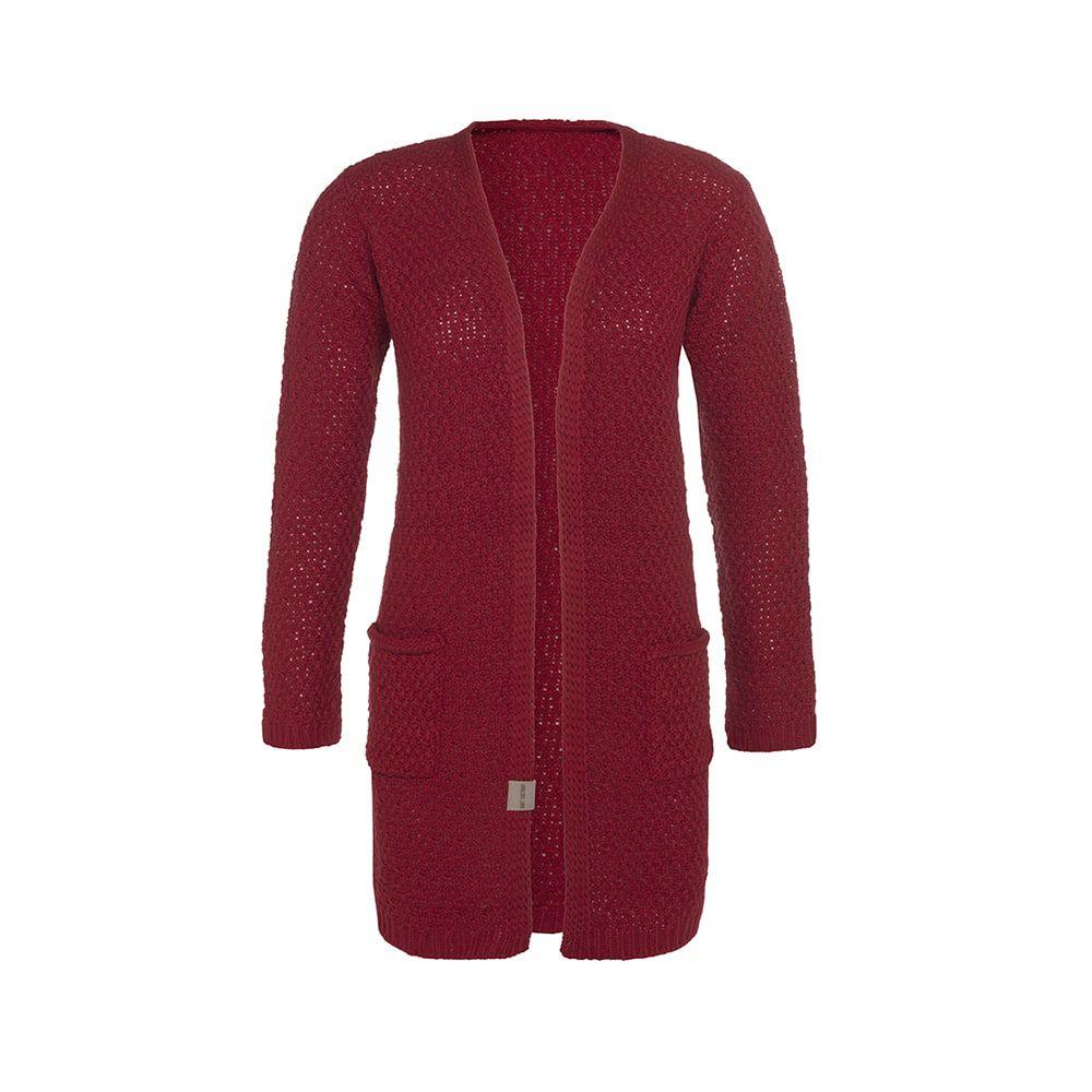 knit factory kf13308100349 luna vest bordeaux 3638 1