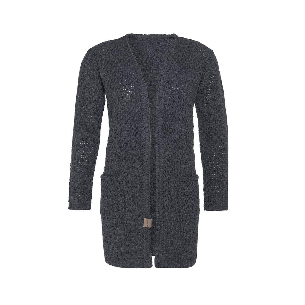 knit factory kf13308101049 luna vest antraciet 3638 1