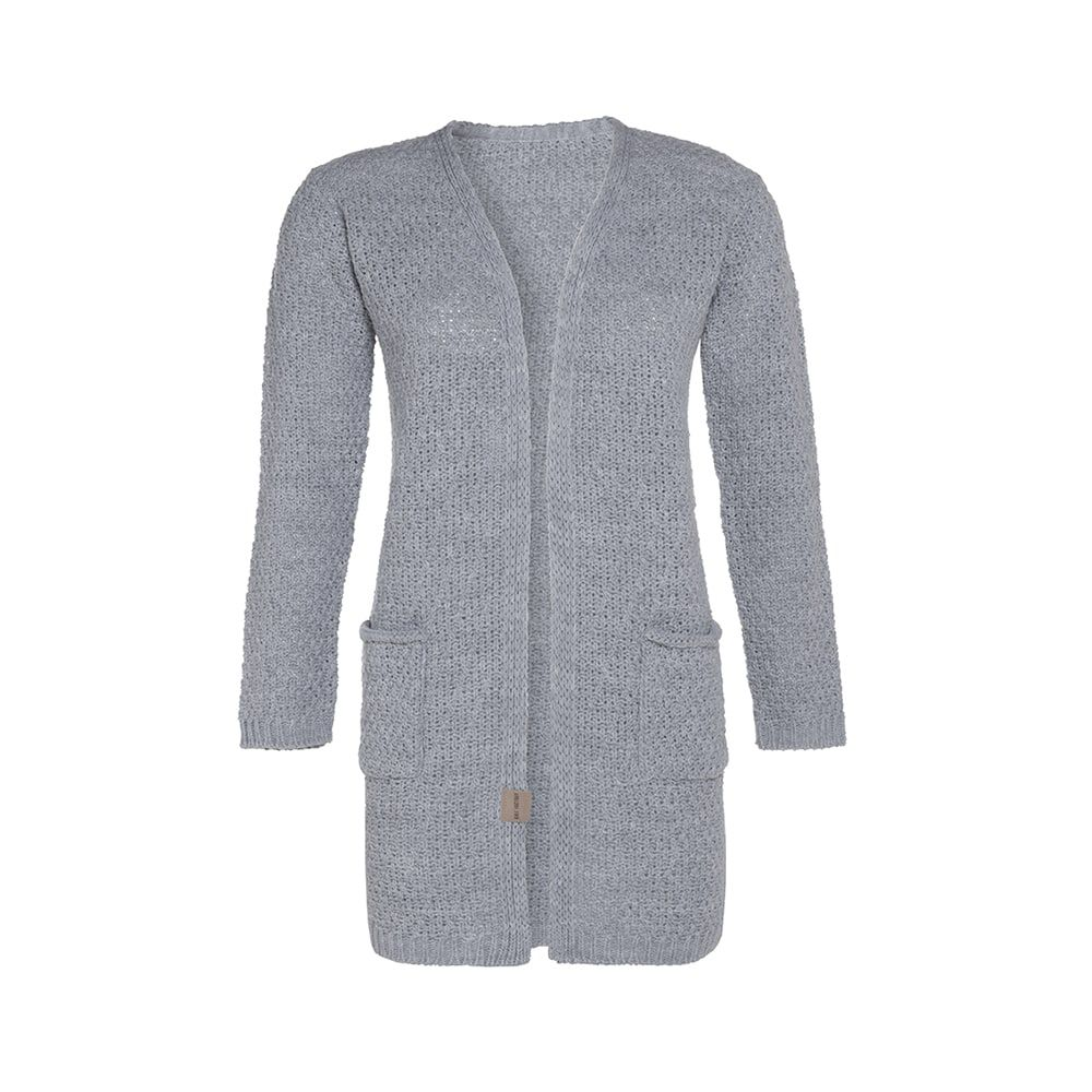 knit factory kf13308101149 luna vest licht grijs 3638 1