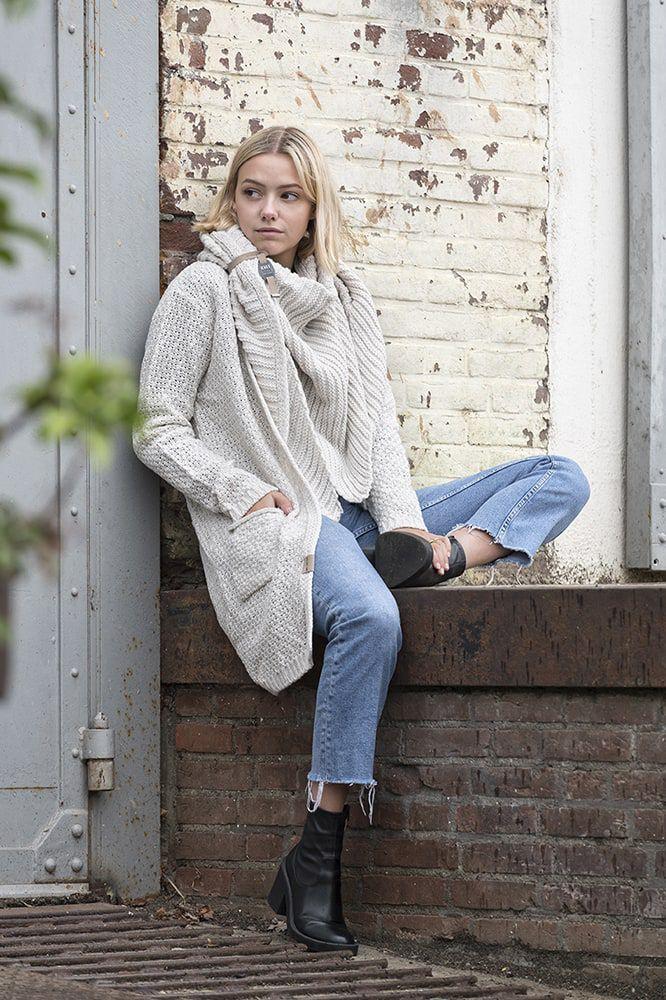 knit factory kf13308101251 luna vest beige 4042 2