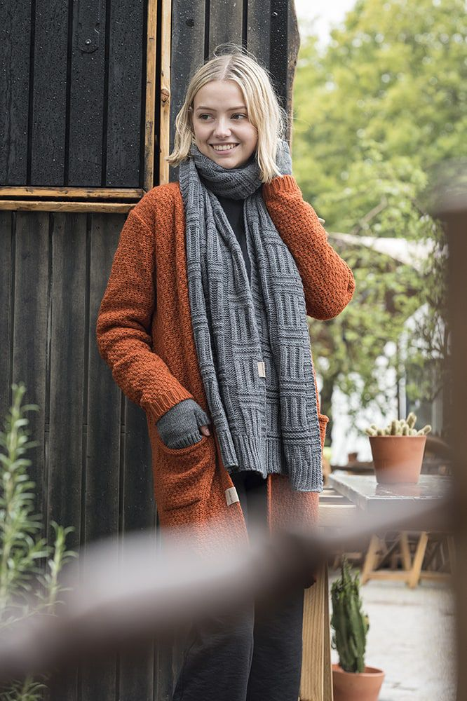 knit factory kf13308101649 luna vest terra 3638 3