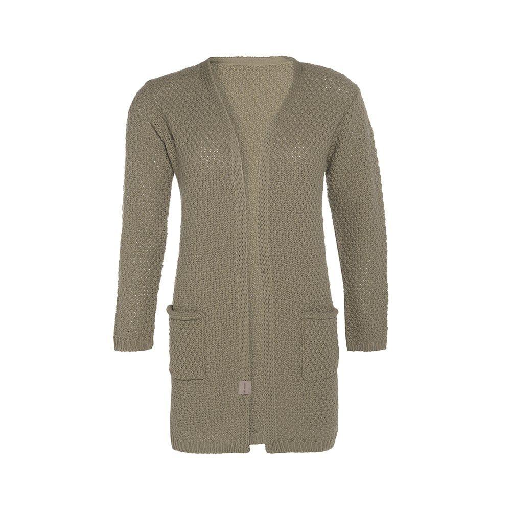 knit factory kf13308103349 luna vest olive 3638 1