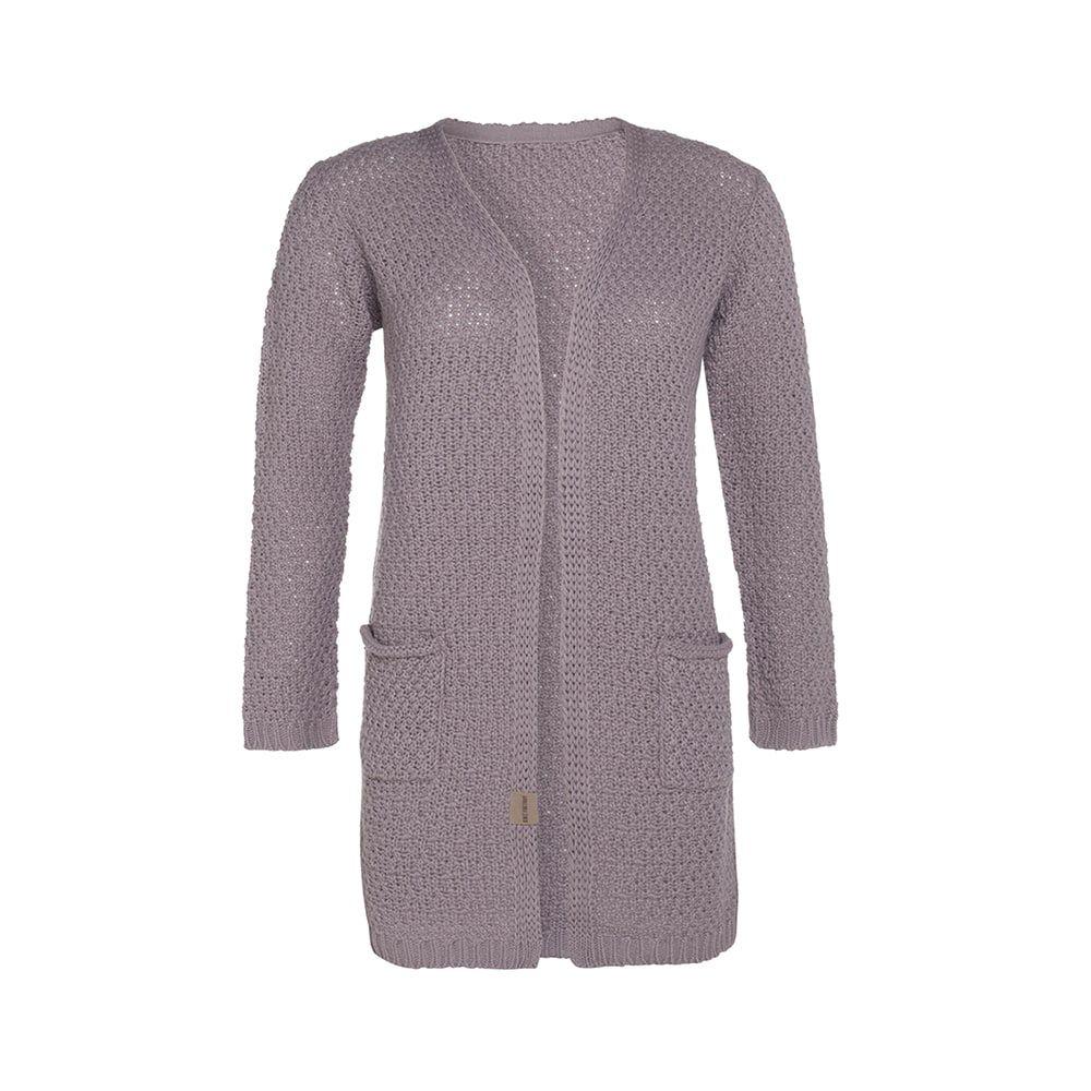 knit factory kf13308103451 luna vest mauve 4042 1